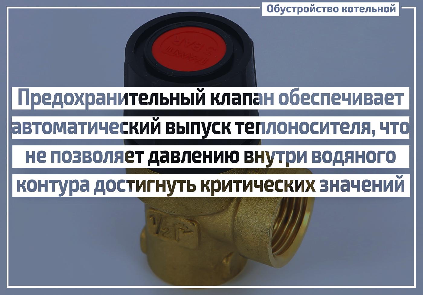 Предохранительный клапан для котла