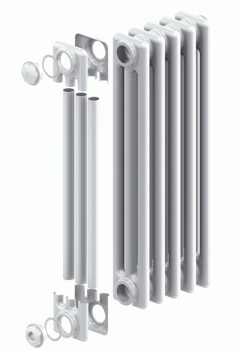 Устройство трубчатых стальных батарей