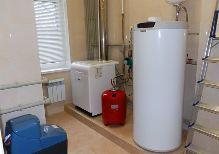 Напольный газовый котел с бойлером косвенного нагрева