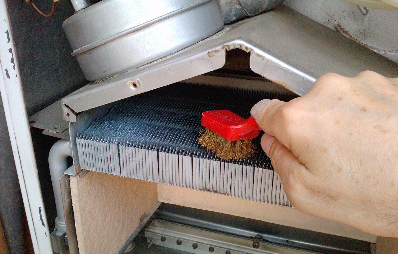 Чистка теплообменника навесного газового котла