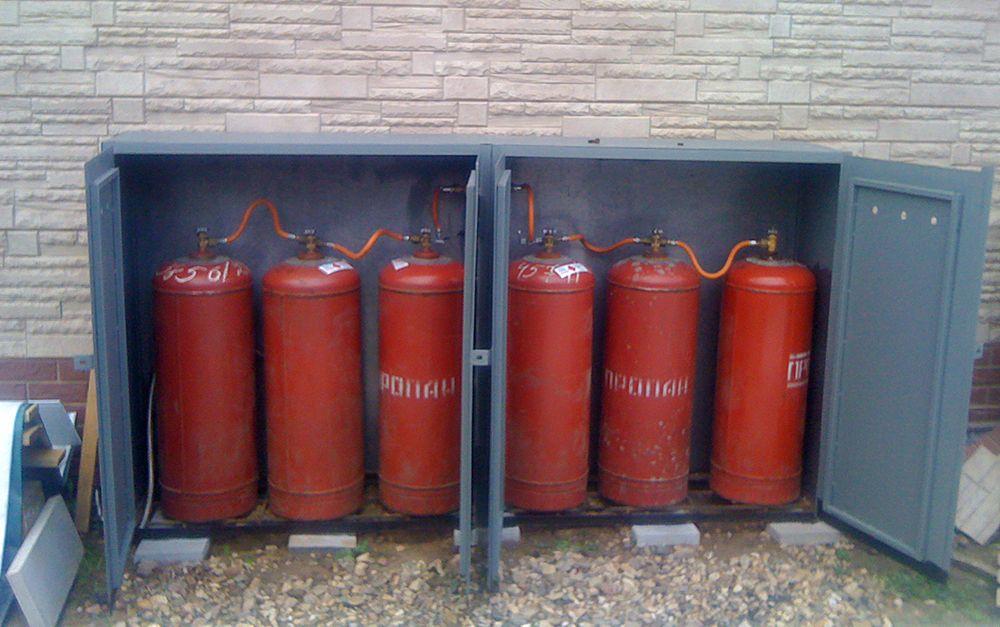 Место ханения пропана для газового котла