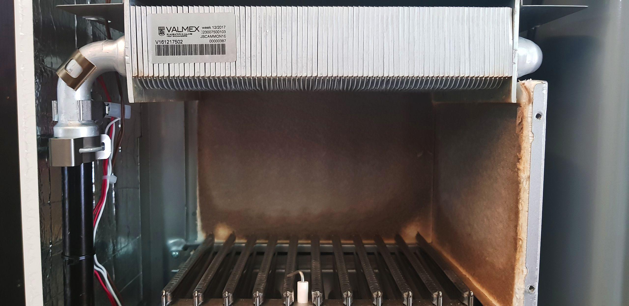Стальной теплообменник газового настенного котла