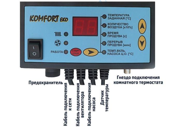 Схема подключения автоматики твердотопливного котла