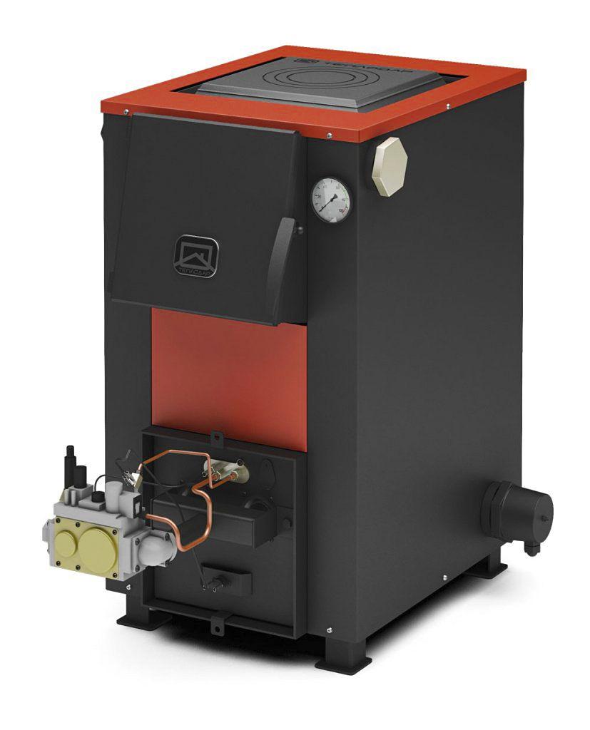 Универсальный газово-дровяной котел с газовой горелкой