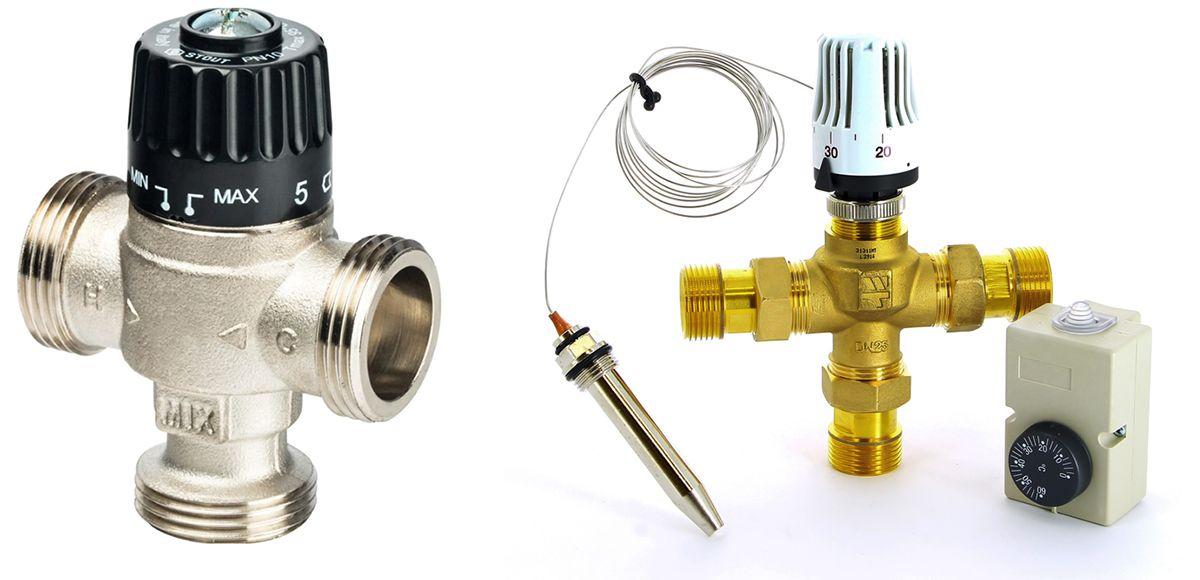 Термостатические трехходовые клапаны