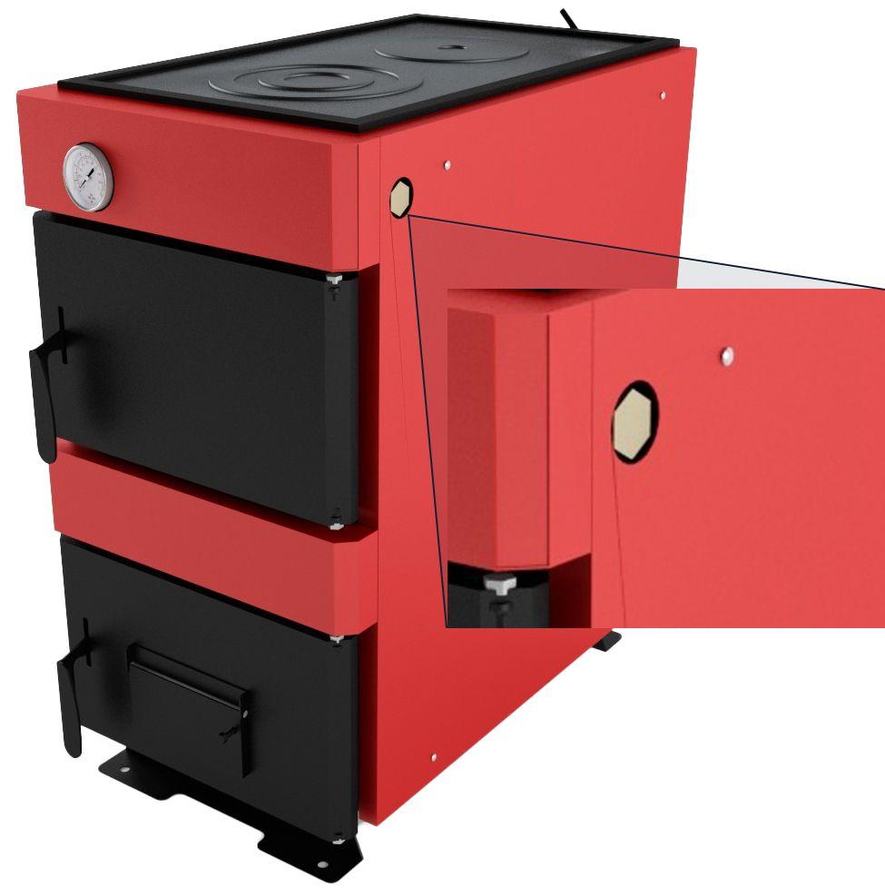 Гднездо для установки в котел механического терморегулятора