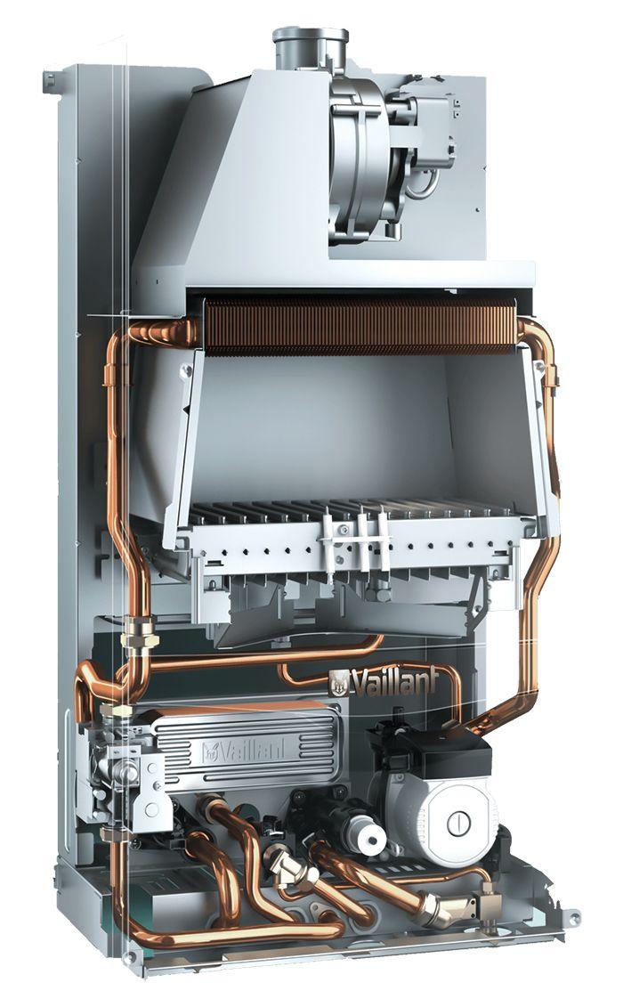 Vaillant turboTEC plus VUW 242 5-5 внутри