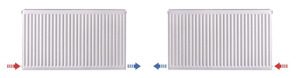 Седельное подключение радиаторов