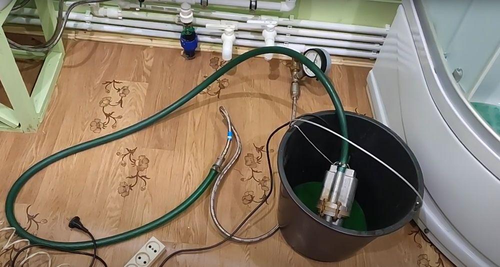 Заполнение системы герметиком