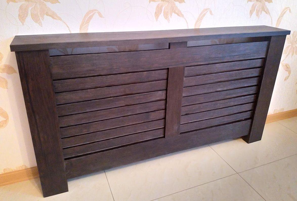 Деревянный экран на батарею отопления_2