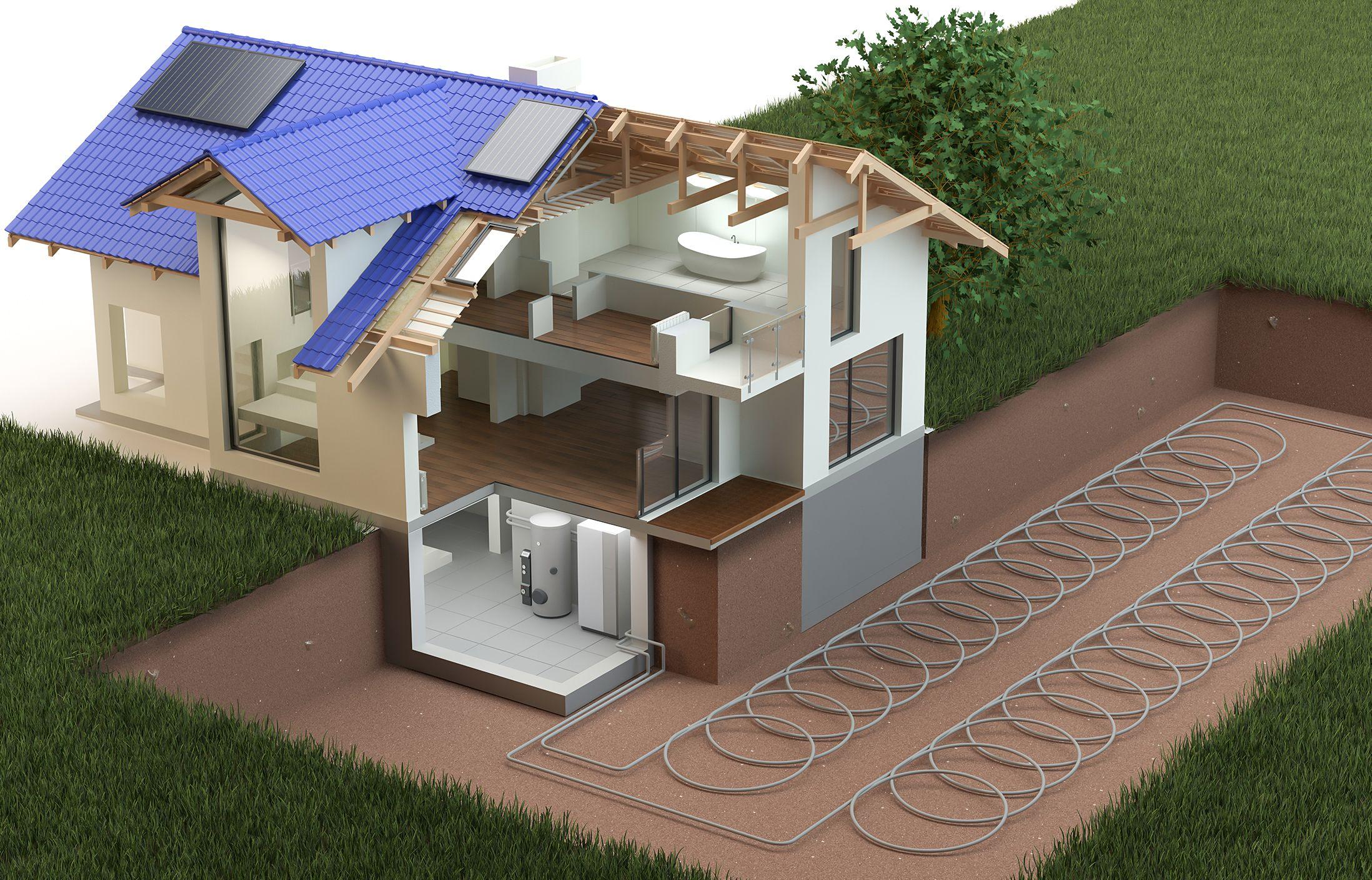 Геотермальное отопление дома