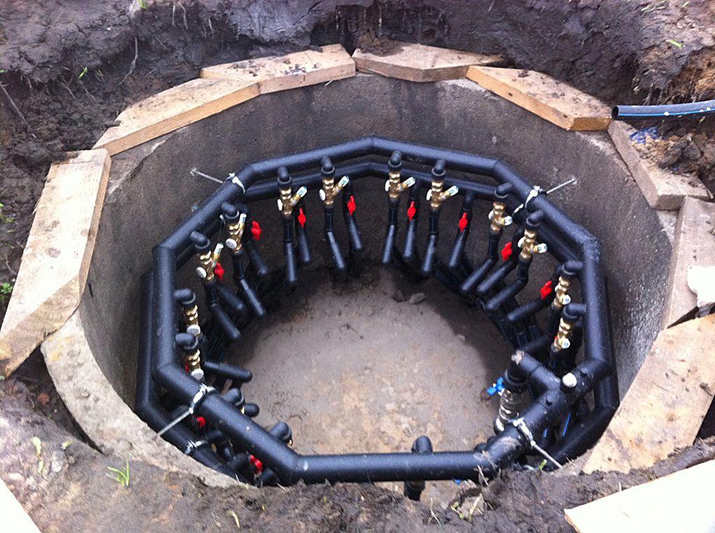 Колодец геотермальной системы отопления