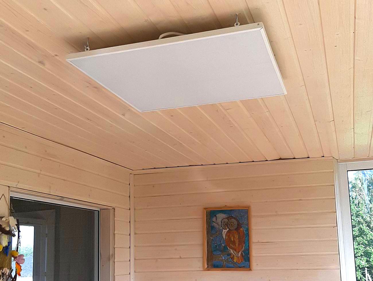 Панельный потолочный ИК обогреватель
