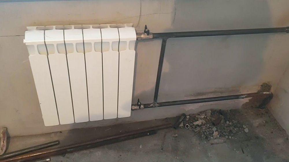 Радиатор с американкой и отсекающими кранами