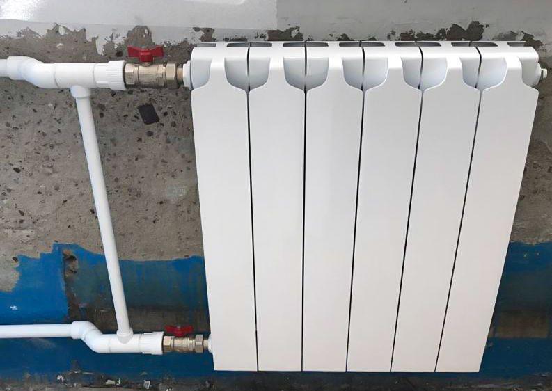 Радиатор с отсекающими кранами